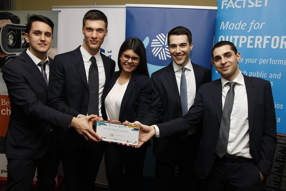2019 CFA® Italian Research Challenge | Paolo Farfaletti Casali - Giacomo Ferrari - Andrea Monteduro - Giovanni Righi - Valentina Zanni